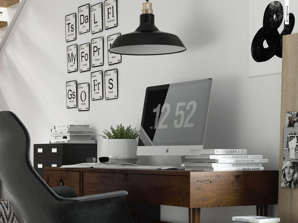 home office details. By Pikcells Visualisation Studio